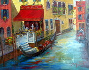 Venice for Lunch oil 24x30