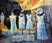 Positano Shopping oil 24x20