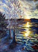 Lake St Jean--18x12--oil