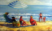 On the Beach oil 30x18