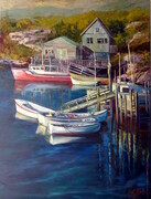 Peggy's Cove--30x40--oil