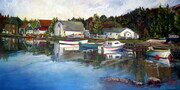 Peggy's Cove Vista--40x20--oil