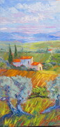 Tuscany Hillside  8X20  oil