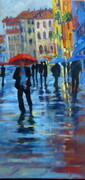 Venice in the Rain  8X20 oil